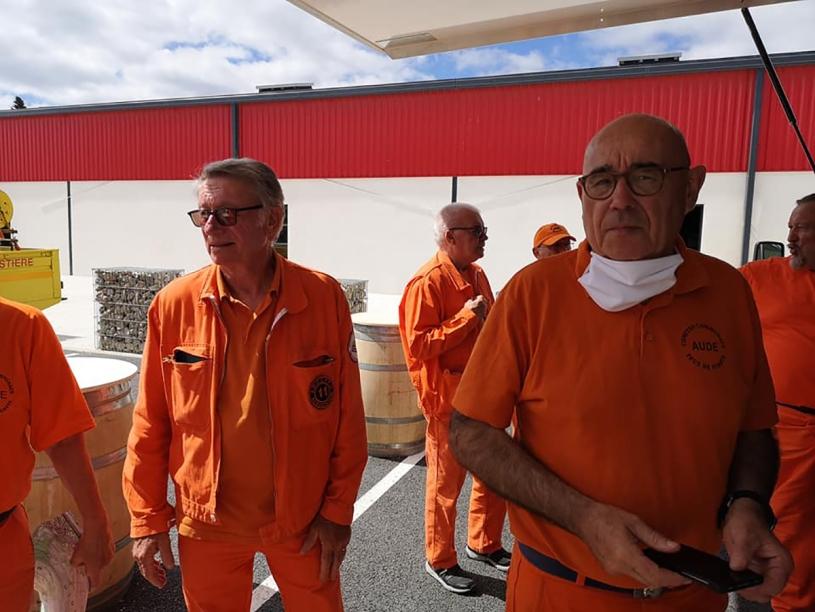 Gilles Meallier, bénévole au CCFF (photo extraite de la page Facebook Comités Communaux Feux de Forêts de l'Aude